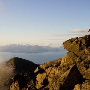 On the summit of Askival, Rums highest peak.