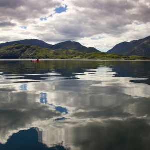 Mirror calm in the middle of Loch Linnhe.