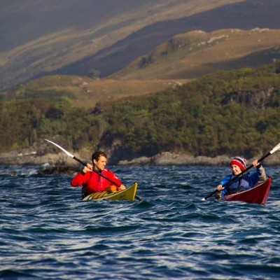 sea kayaking in the Sound of Arisaig