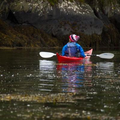 Calm water sea kayaking near Arisaig