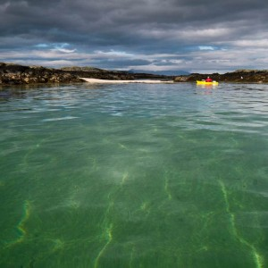 Beautiful contrasts whilst sea kayaking at the Arisaig Skerries.