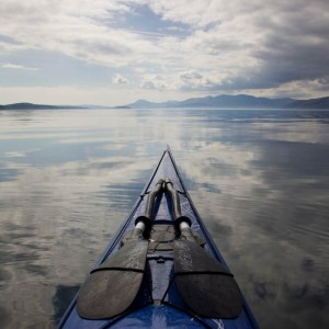 Another calm day on the Loch - sea kayaking past Lismore.
