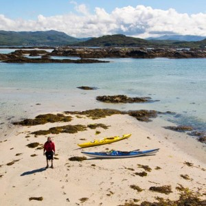 Taking a break amongst the Arisaig Skerries.