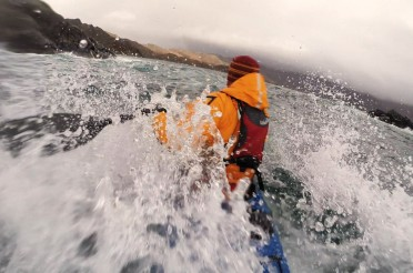 Rough water sea kayaking in Loch Ailort