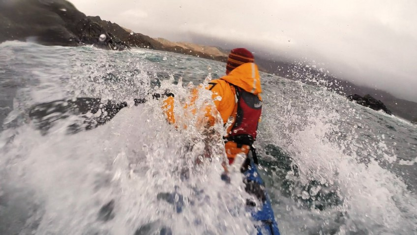 Rough water sea kayaking in Loch Ailort