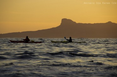 Sea Kayak sunsets on the West coast of Scotland