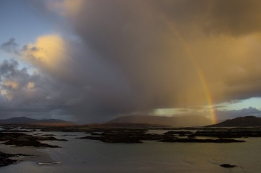 Rainbows over the Arisaig Skerries