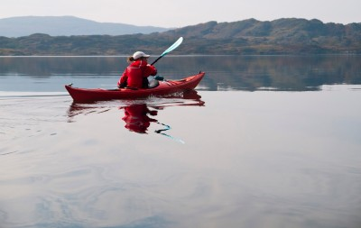 Sea kayaking in Scotland.