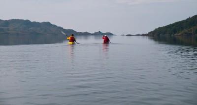 Sea kayaking in Loch Moidart.