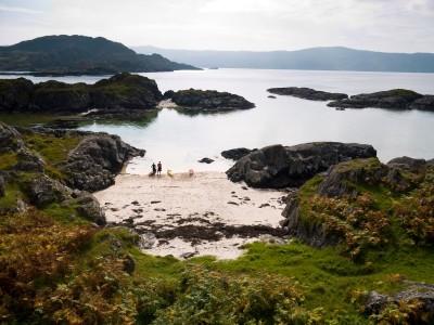 A beach on Eilean Shona.