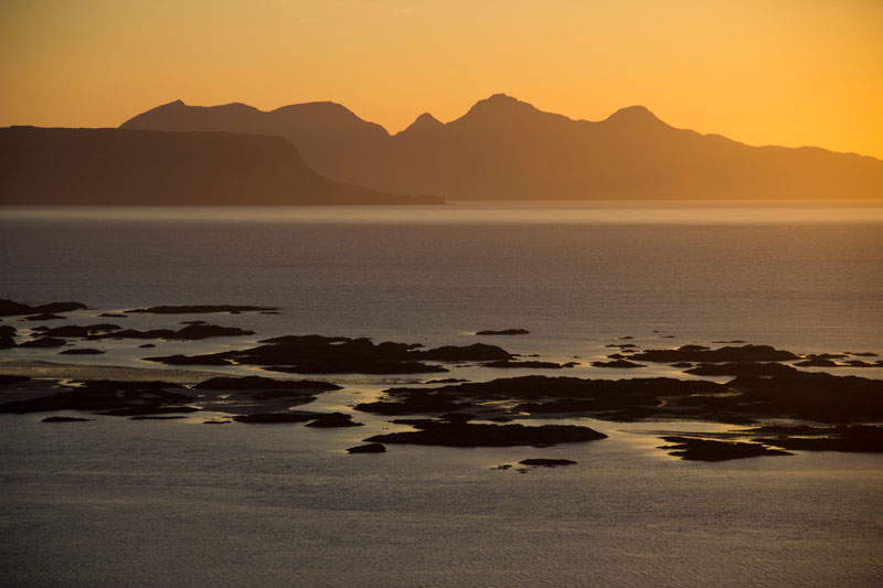 Sunset over the Arisaig Skerries.