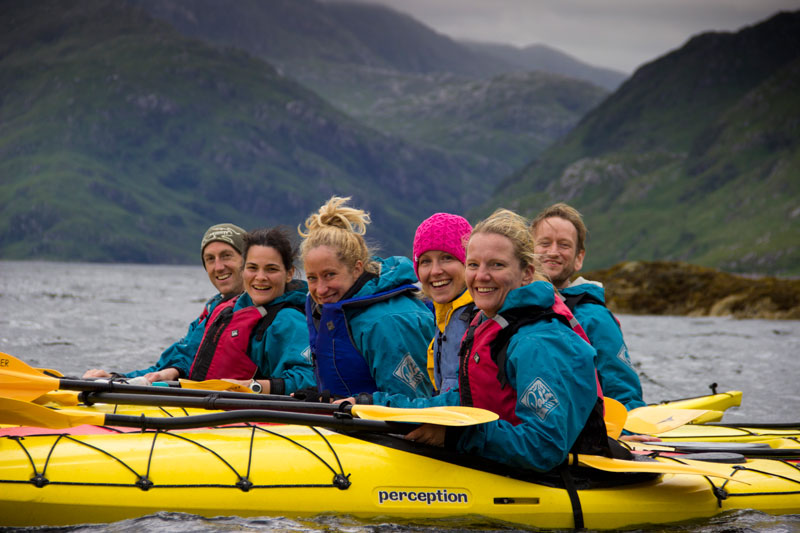 Knoydart sea kayaking